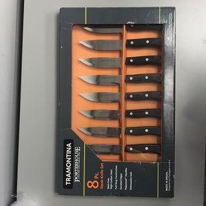 Porterhouse carbon steel steak knife set.